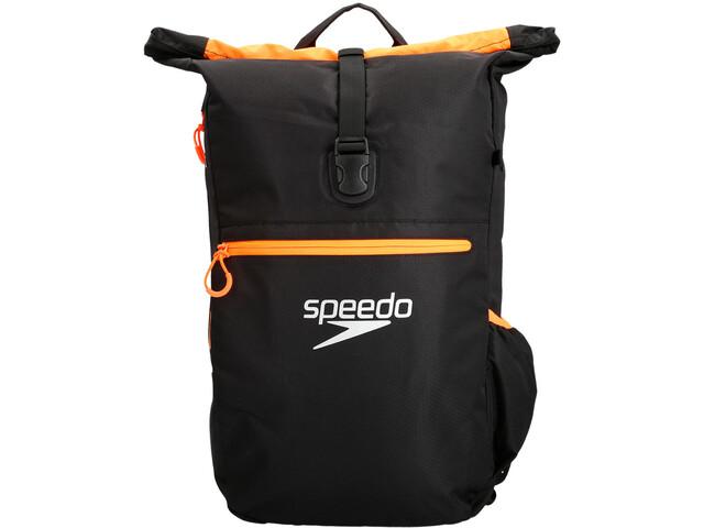 speedo Team III Mochila 30l, black/fluo orange